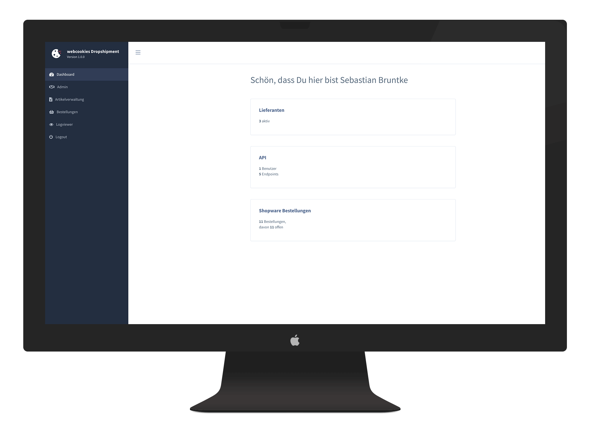 Shopware Dropshipping Dashboard